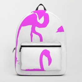 Three Flamingos Pink Silhouette Isolated Backpack