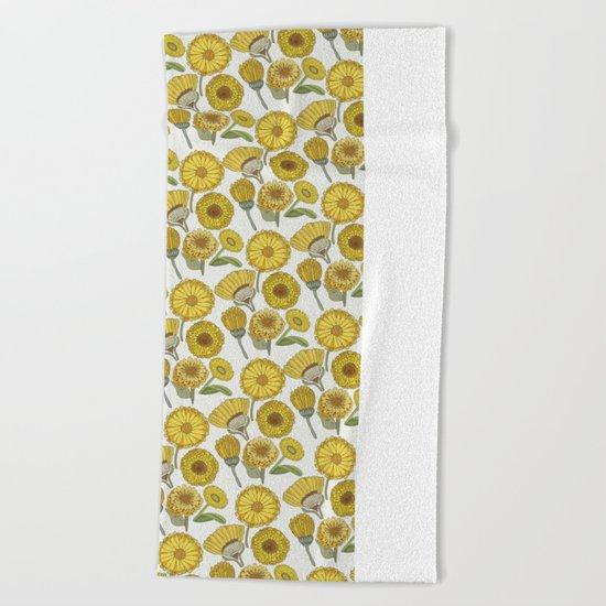Calendula Florals Beach Towel