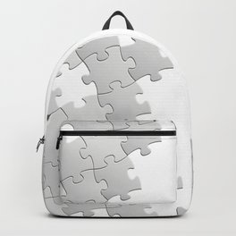 Puzzle white Backpack
