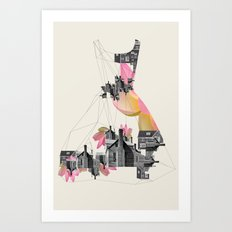 Filled with city Art Print