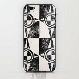 Abstract Compass Pattern Print iPhone Skin