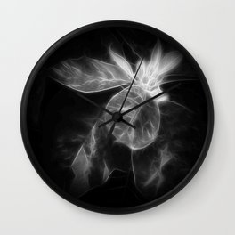 Mottled Red Poinsettia 1 Ephemeral Dark Wall Clock