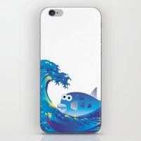 hokusai iPhone & iPod Skins featuring Hokusai Rainbow & Globefish  by FACTORIE