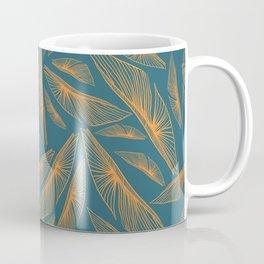 Feathered Leaf Pattern Coffee Mug