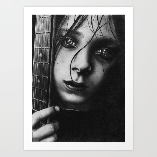 Boy And His Guitar Art Print