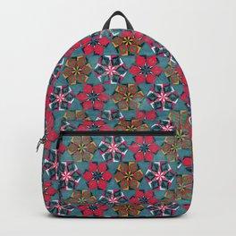 Origami Flower - blue Backpack