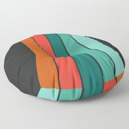 Flipside - 70's style trendy throwback retro gifts 1970s abstract art Floor Pillow