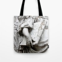 moscow Tote Bags featuring Statues Moscow by RMK Photography