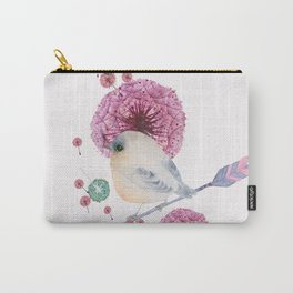 Cute Bird and Dandelion Carry-All Pouch