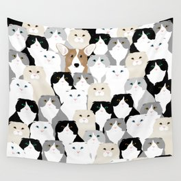 Cats and Dog Wall Tapestry