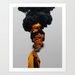 TIME OUT. Art Print