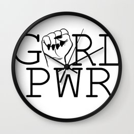 Girl Power & Women Empowerment Wall Clock