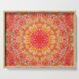 Flaming Star Mandala Serving Tray