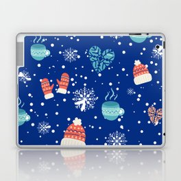 Winter Pattern Mittens Mugs Hearts Snow Flakes Laptop & iPad Skin