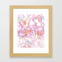 Insect textile n0.1 Framed Art Print