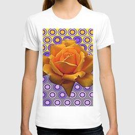 GOLDEN GARDEN ROSE MODERN ABSTRACT T-shirt
