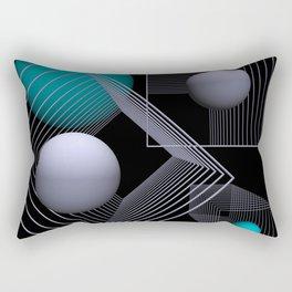 go turquoise -12- Rectangular Pillow
