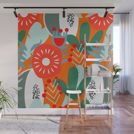 Cacti, fruits and flowers Wall Mural