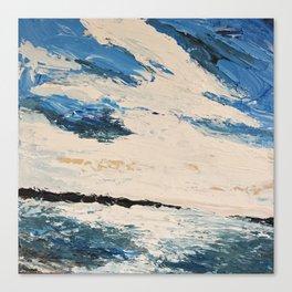 Breakwaters Canvas Print