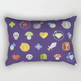 Video Game Universe Pattern Rectangular Pillow