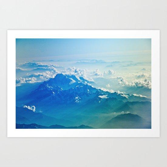 Mountain clouds 2 Art Print
