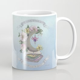 Freedom, Books, Flowers and The Moon Coffee Mug