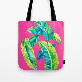 Hot Pink Palms Tote Bag