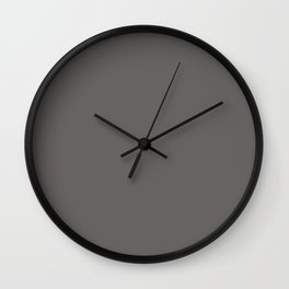 Simple Solid Color Ash Gray All Over Print Wall Clock
