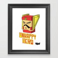 unhappy hero Framed Art Print