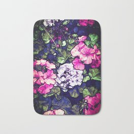 Pink Geraniums, Goddess Energy Bath Mat