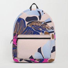 deep purple floral#blush Backpack