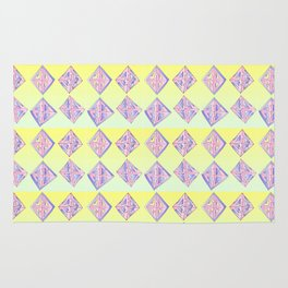 square abstraction-mutlicolor,abstraction,abstract,fun,rectangle,square,rectangled,geometric,geometr Rug