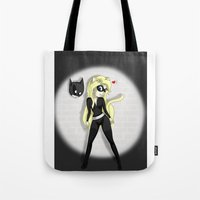 catwoman Tote Bags featuring Catwoman by oONekoGirloO
