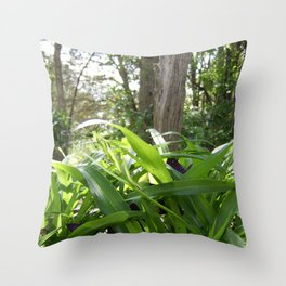 Green Dawn Throw Pillow