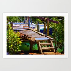 No entry to the decaying wharf Art Print