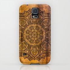 Mandala on wood Galaxy S5 Slim Case