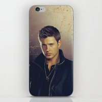 dean winchester iPhone & iPod Skins featuring Dean Winchester - Supernatural by KanaHyde
