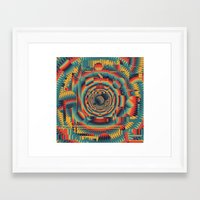 glitch Framed Art Prints featuring glitch by Blaž Rojs