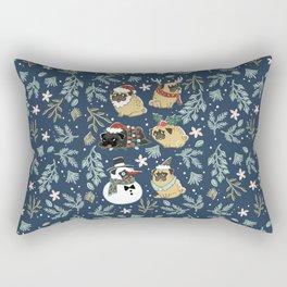 Christmas Pugs Rectangular Pillow