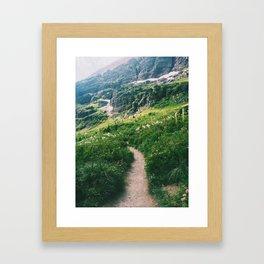 Grinnell Glacier Trail Framed Art Print