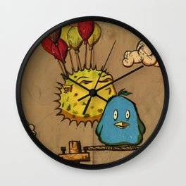 Flying Fish Wall Clock