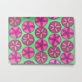 Preppy Spring Pink Flower Print Metal Print