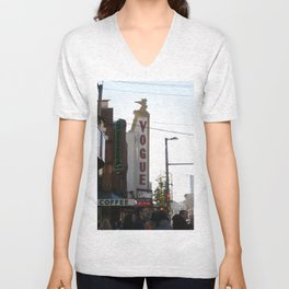 Vogue Sign Granville Street Unisex V-Neck