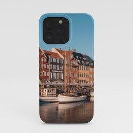 Colorful houses with fishing boats I Nyhavn, Copenhagen I Denmark, Europe I Vintage photogrpahy iPhone Case