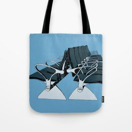 AirportChairs Blue Tote Bag
