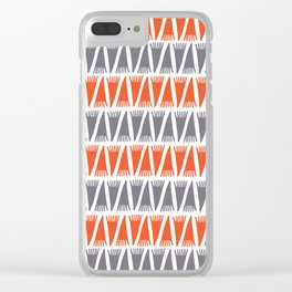 Tee Pee Flame Clear iPhone Case