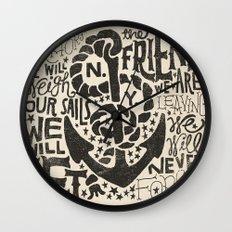 Anchors Aweigh Wall Clock