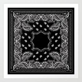 Bandana Black & White Art Print
