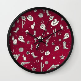 The Wild West Print Wall Clock