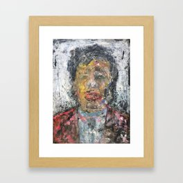 Liu Yiqian (oil on canvas) Framed Art Print